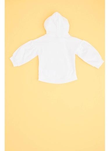 BG Baby Kız Bebek Beyaz Sweatshirt Beyaz